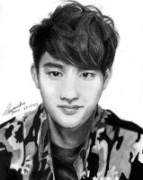 EXO D.O. pencil drawing by CassPoon