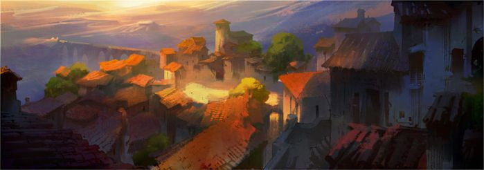 Spanish Township by NathanFowkesArt