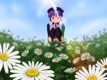 Defoko in flower field by Hyakuya