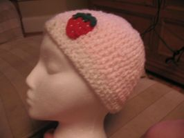 strawberries and cream hat by Emjean