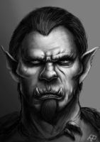 Orc portrait by RPiedra