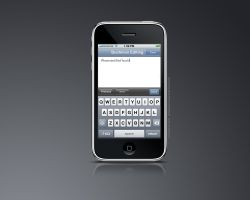 Text editor on iPhone by mr-iphone