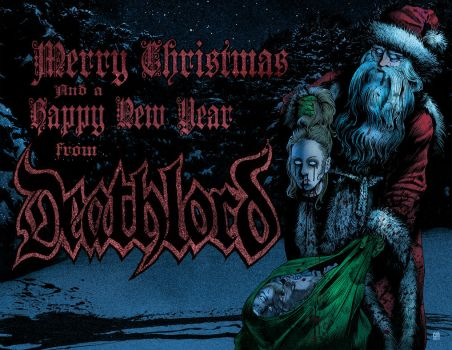 DeathLord Xmas card by americanvendetta