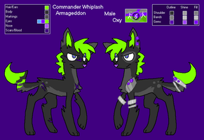Commander Whiplash Reference Sheet by liighty