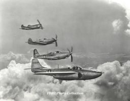P-59A, P-63A, P-39Q and XP-77 formation by fighterman35