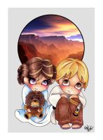 Leia and Luke by UnearthlyPossessions