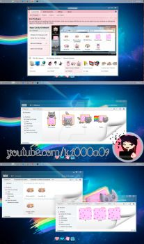 Nyan Cat Theme Iconpackager by k1000adesign