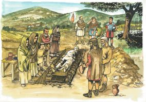 Romans funeral in Pannonia Secunda by Sedeslav