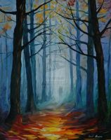 Forest by Leonid Afremov by Leonidafremov