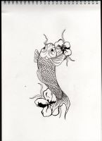 lineart version Koi by ToniTurtle