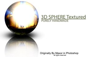 3D Metal Sphere Textured by Maxor-GWD
