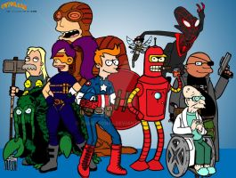 Futurama Meets Ultimate Marvel Update by kameleon84
