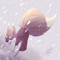 snowing in the summer by phation