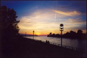 Grand Haven Harbour, Sunset by kessalia