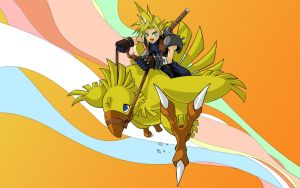 Cloud and Chocobo by joeadonis