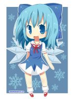 Chibi Cirno by hanahello