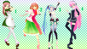 MMD Pose Pack 16 by Aisuchuu