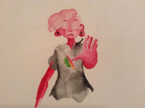 Paint in Progress: Pink Lars by CrystalEcho21