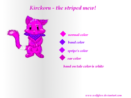 Krikoru - thestriped mew by WolfGlow
