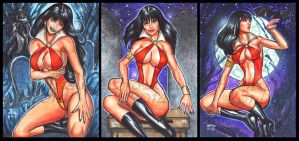 VAMPIRELLA PERSONAL SKETCH CARDS by AHochrein2010