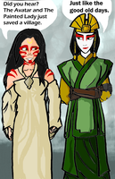 Kyoshi and the Painted Lady by Doghcat