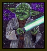 Yoda - SW - giftart by SeptemberGloaming
