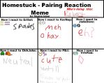 Homestuck pairing reactions meme by flamerai