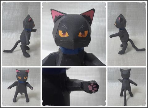 Black Cat Papercraft by Mironius