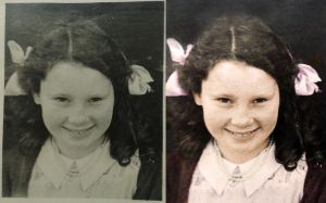 Girl 1948 - before after by B-D-I