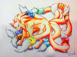 Ninetailed Fox Seven Deadly Sins by tatsumakitee