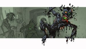 Another zombie living dead by Gib-Pinups-And-Toons