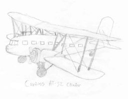 Curtiss AT-32 Condor by wingstopboy