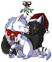 +commission+ Christmas Couple! by Inkshadow