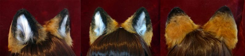 Realistic Red Fox Ears by TheGuardianDragon