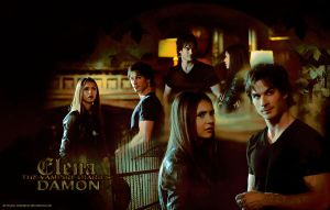 Elena And Damon by hazelxxx