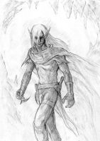 veldrin, the dark elf by missingbanana