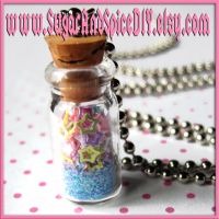 Jar Full Of Stars Necklace II by SugarAndSpiceDIY