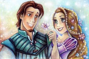 Flynn and Rapunzel by Alena-Koshkar
