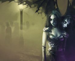 Gothic Freaks in London Fog by kingzog