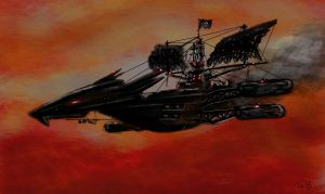 Dread Pirate Airship by Fraybie