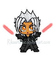 .:MSPaint:PSP9: Xemnas Chibi:. by RikaArtistic