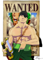 Zoro One Piece by MIKE-RAYN3R