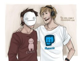 Cryaotic and Pewdiepie by the-evil-legacy