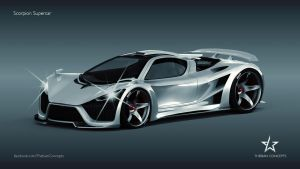 SCORPION CONCEPT SUPERCAR by mcmercslr
