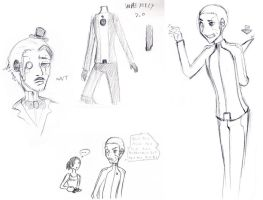 Wheatley sketches -human by Asakura-san