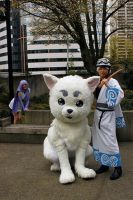 Gintama Cosplay: Sadaharu Quadsuit by hejinglan