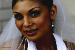 Bride painting by photoman356
