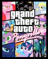 Grand theft auto ponyville by Slousberry