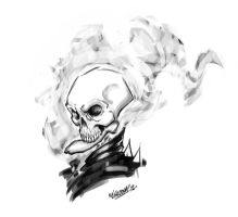 Ghost Rider sketch by renecordova