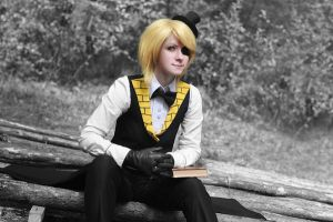 Gravity falls - Bill Cipher cosplay - 7 by Dokura-chan